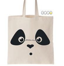 Cotton Tote Bag- Cute Panda Design