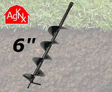 6 inch Daimeter Earth Auger for Hand Held Post Hole Digger w/ 3/4 in Shaft