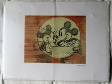 Walt Disney's 'Mickey's Rival 1936' Pencil Drawing of Mickey and Minnie