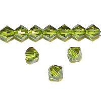 SCB474f OLIVINE Green Xilion Faceted Bicone 5mm Swarovski Crystal Beads 24/pkg