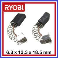 Le lot de 2 balais Charbons RYOBI 6.3 x 13.3 x 17 / 18.5 mm Scie Meuleuse Rabot