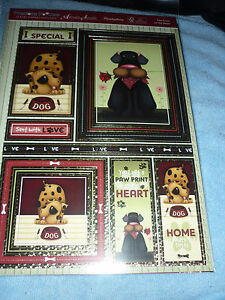 HUNKYDORY ADORABLE SCORABLE PAW PRINTS TOPPERS-CARDS-INSERTS-PAPER-ENVELOPES