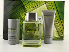 REACTION By KENNETH COLE COLOGNE MEN GIFT SET 3.4 OZ +A/S BALM + DEO NEW IN BOX