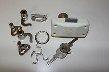 Drehstangenschloss mit Zylinder, aufliegend, JuNie 7061, rechts, weiß