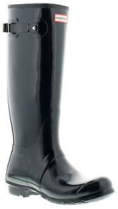 Hunter original tall gloss womens ladies wellies wellington navy UK Size