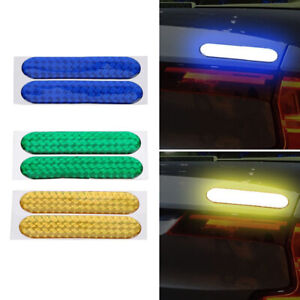 1 Pair Reflective Safety Mark Strip Car Door Sticker Safe Driving Warning Tape