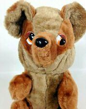 "Vintage Teddy Bear Brown Plush Denville Creations Stuffed Animal Korea 10"""