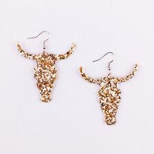 Beautiful Glitter Tauren Leather Earrings Bohemian Multicolor Fashion Jewelry