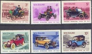 New Zealand 1972 VINTAGE CAR RALLY (6) Unhinged Mint SG 972-7