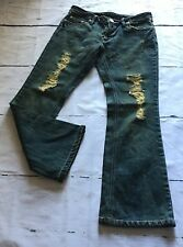 Womens Flare Jeans Size 26X28 Distressed Destroyed by Gauranteed High Quality
