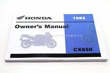 New Owners Manual 1983 CX650 CX650C Custom OEM Honda Operators Book    #R98