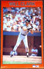 WILL CLARK San Francisco Giants 1987 Vintage Original Starline Baseball POSTER