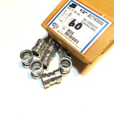 """BOX OF 60 AMERICAN FITTINGS EC760US ½"""" EMT COMPRESSION COUPLING"""