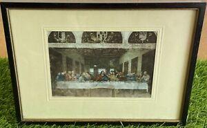 Vintage THE LAST SUPPER BY LEONARDO DA VINCI Print Framed 1968 By W.J. PENN