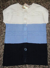Crazy 8 Panda Bear collection s/s cable knit cardigan sweater NWT 4 4T
