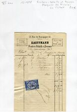 Paris VII ème 51 Rue de Bourgogne Fruiterie & Poissons Marquise de Nicholaï 1878