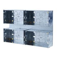 BG HGS07/C4 4x 2 Gang 47mm Metal Box On Back Plate Mounting Combination Plate