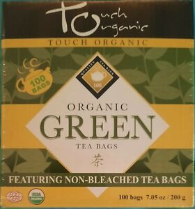 Touch Organic Green Tea - Sealed Cube  - 100 Bags 200g 7.05 oz  EXP 10/10/ 2023