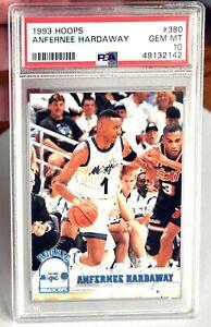 1993 HOOPS ANFERNEE PENNY HARDAWAY ROOKIE RC # 380 PSA 10 Gem Mint Pop 75 MAGIC