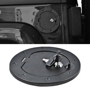 Fuel Gas Filler Cap Cover Lock Kit for Jeep Wrangler JK Unlimited Sahara 2007-18