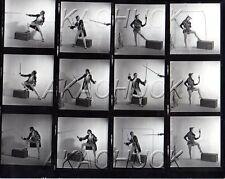 Jester Stick Clown Fencing HENDRICKSON Negative & Photograph Contact Sheet D603