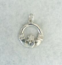 Irish Claddagh - 18x18mm friendship or love token - 925 sterling silver charm