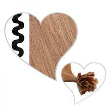 25 ondulé mèches brun clair #10, Remy, brun clair Extensions ondulées