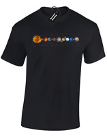 SOLAR SYSTEM MENS T-SHIRT SPACE ASTRONAUT NASA ASTRONOMY MOON FAN GIFT (COL)