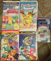Care Bears VHS Lot Of 5 (Movie 1 & 2, Joke ALot, To The Rescue, Bedtime Stories)
