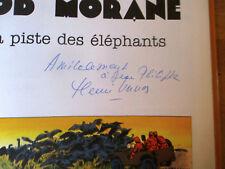 SIGNÉ par HENRI VERNES album LEFRANCQ / La piste des éléphants de Bob Morane