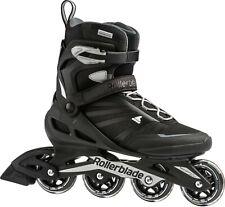 Rollerblade Mens Zetrablade Fitness Performance Inline Skates, Adult, Black/Silv