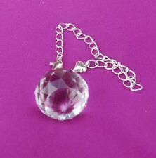 25mm Facetted Clear Sphere Ball Crystal Suncatcher Pendulum Dowser