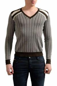 Prada Men's Silk Multi-Color V-Neck  Sweater Size XS M