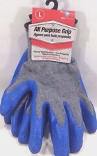 Latex-Coated Cotton Large Work Gloves - All Purpose Grip