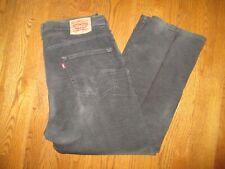 Levi's 569 Loose Straight Fit Zip Fly Black  Men's Corduroy Pants W 38 x L 30