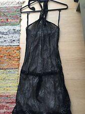 Brand New Review Black Sequin Halter Dress Size 8