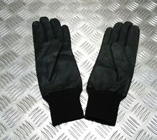 Genuine British Military Issue GS General Service Black Leather Lined Gloves