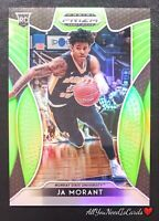 Ja Morant Rookie Card 2019-20 Panini Prizm Draft Picks Neon Green SP 3/125 RC #2