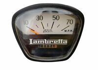 LAMBRETTA SPEEDO METER 10-70 MPH BLACK FOR GP LI SX TV