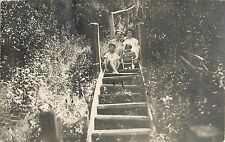 1906 Mother and Children in Riverside, Michigan Real Photo Postcard/RPPC