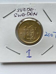 2007 SUEDE SWEDEN 10 Kronor aUNC in 2x2 Holder