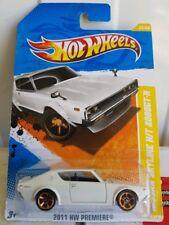 Hotwheels 2011 - Nissan Skyline 2000 GT-R [Kenmeri][WHITE] LONG CARD.