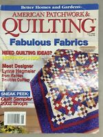 Better Home And Garden Quilting Vintage Magazine Summer June 2002 Inspiration