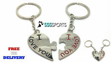 MOTHERS DAY SPLIT BIG HEART LOVE KEYRING KEYCHAIN FOR HIM HER LOVE COUPLES GIFT