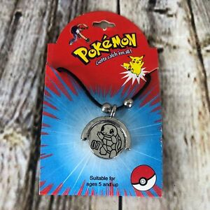 Pokemon Squirtle Necklace Choker Nintendo Officially Licensed 2 Sided Pendant