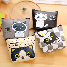 Womens Lovely Mini Kawaii Cat Coin Purse Cute Cartoon Wallet Makeup Bag Pouch