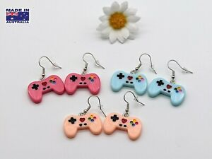 Retro Playstation Style Remote Controller Novelty EARRINGS Gift Dress Accessory