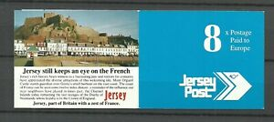 """JERSEY (Channel Isl.): Postage Stamp Booklet """"8x Postage paid"""" /1993 / MNH"""