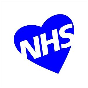 NHS Vinyl Decal Sticker Pandemic Thank you Charity Nurse Heart Support NHS3