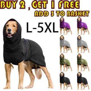 Pet Dog Towelling Drying Robe Soft Sleepwear Coat Puppy Warm Apparel Costumes